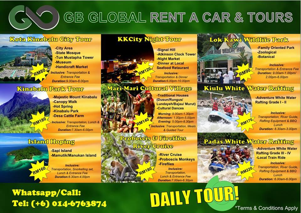 sabah daily tour