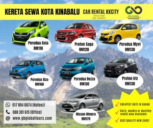 Promosi Kereta Sewa Di Sabah